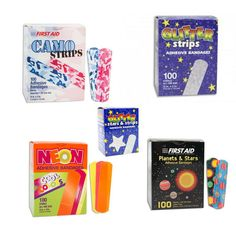 Adhesive Bandages Band Aid X Mixed Designs highly absorbent Band Aid, Adhesive, The 100, Cool Stuff, Box, Design, The Bucket List, Cool Things