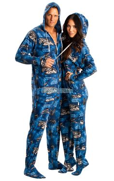 Star Wars One Piece Adult Pajamas... Geeky tackiness at it's finest!