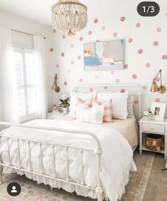 We are obsessed with Between White Houses big girl room makeover! How adorable is this transformation she made for her little girl! And this acce… – Preteen Girl Bedroom Walls, Big Girl Bedrooms, Girls Bedroom Furniture, Little Girl Rooms, Kids Bedroom, Bedroom Decor, Teen Furniture, Girls Bedroom Pink, Preteen Girls Rooms