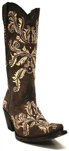 Lucchese 1883 Women's Angelina Red Wood Aspen Boots -- We are in envy of the person who buys these boots because they get to walk around town looking absolutely incredible in these Cowgirl Boots! | SouthTexasTack.com