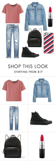 """""""Untitled #8"""" by iulia-ab ❤ liked on Polyvore featuring WithChic, H&M, rag & bone, Converse, Gucci, MAC Cosmetics and Casetify"""