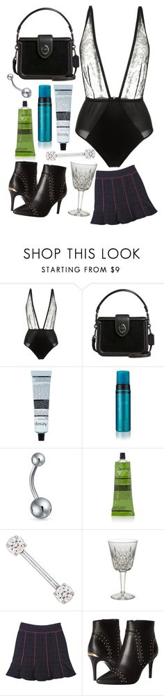 """""""Body suit"""" by heidibartholdy on Polyvore featuring Fleur du Mal, Coach, Aesop, St. Tropez, Bling Jewelry, Waterford, Nanette Lepore and Calvin Klein"""