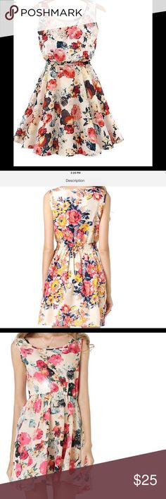Cute Cute Floral Dress High Quality,Casual Bohemian Style, Polyester Fabric. S,L and XL available. Size chart on the last photo if you need any other size,lmk please Dresses Mini