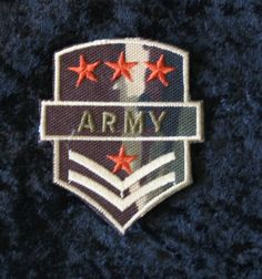 Iron-on Army Patch. $2.25, via Etsy.