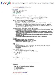 Creative Resume Example for your Inspiration