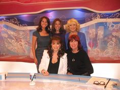 With the ladies from Loose Women