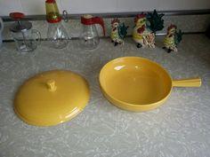Vintage fiesta, french casserole dish. I'm in love...again.