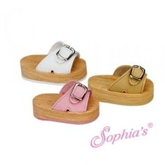 These buckle strap doll sandals come in 3 colors and feature a faux wood sole. A fun shoe for your 18 inch doll. You will see that our primary line is clotjing and accessories for American Girl dolls and other dolls. American Girl Doll Shoes, American Doll Clothes, Girl Doll Clothes, Doll Clothes Patterns, Girl Dolls, American Girls, Ag Dolls, Doll Patterns, Girls Shoes