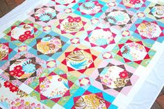 "Hyacinth Quilt Designs - The pattern is ""Strawberry Fields"" from the first Material Obsession book."