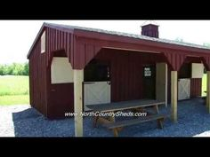 Equine Horse Barns - Shed Row Horse Barns - By North Country Sheds Visit NorthCountrySheds.com for more info
