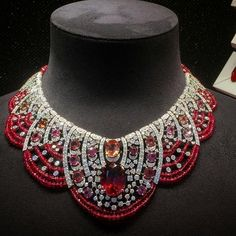@cartiernecklace ruby rubellite red pink diamonds