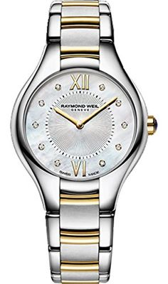 Raymond Weil Noemia Mother of Pearl Diamond Dial Ladies Watch 5127-STP-00985 >>> Read more reviews of the product by visiting the link on the image.