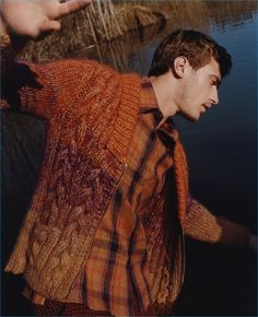 French model Clément Chabernaud photographed by Harley Weir for Missoni's fall-winter 2016 advertising campaign.
