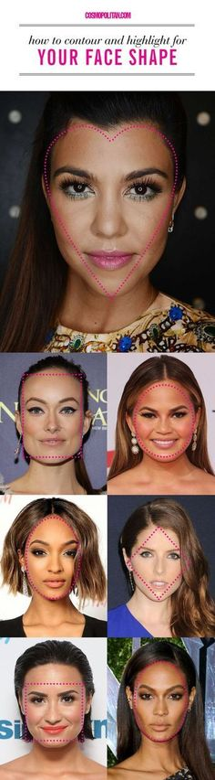The Right Way to Contour for Your Face Shape - Cosmopolitan.com #fashionsecretstipsstyle