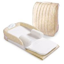 Baby Delight Supreme Snuggle Nest - Beige/white Portable Sleeper For Newborns