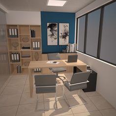 Diseño de oficina (Gerencia) - (VRay) - SOHO+ Magdalena
