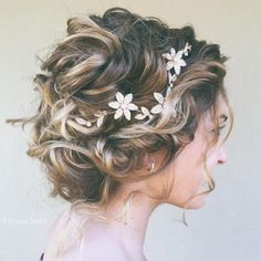 Messy Curly Bridal Updo http://niffler-elm.tumblr.com/post/157398740006/beautiful-short-layered-bob-hairstyles-short
