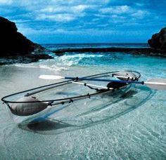 Kayak transparente.