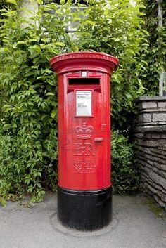 British Red Post Box: One of these with a skater mannequin on top - very quirky and very London.