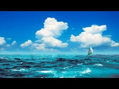 Relaxing Harp Music: Peaceful Music, Sleep Music, Meditation Music, Soothing Music ★80 - YouTube Tenerife, Relaxing Harp Music, Calming Music, Boat Wallpaper, Love Spell That Work, Nature Sounds, Deep Blue Sea, Meditation Music, Sky And Clouds