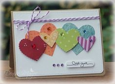 cute hearts card by carol.ferrier