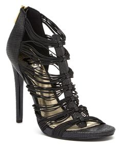 Look at this Black Glow Strappy Sandal on #zulily today!