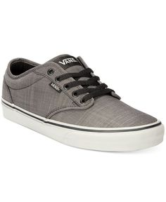Need to infuse some skater style in your look without going overboard? Lace up in these Atwood canvas men's sneakers from Vans for that heritage look with a streetwise twist. | Canvas upper; rubber so