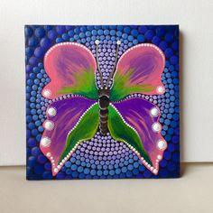 Mandala de mariposa original pintura CreateAndCherish pintura