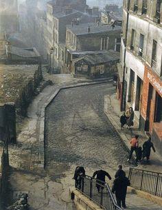 Henri Guérard-Rue Vilin, Belleville, Paris, 1959.via (thecinetourist.net)