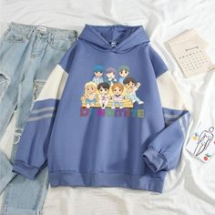 Cute Girl Outfits, Cute Outfits For Kids, Girly Outfits, Girls Fashion Clothes, Fashion Outfits, Bts Hoodie, Hip Hop, Bts Inspired Outfits, Fashion Illustration Dresses