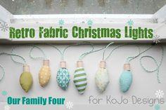 retro fabric christmas lights tutorial