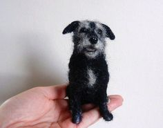 Pippin- terrier mix needle felted