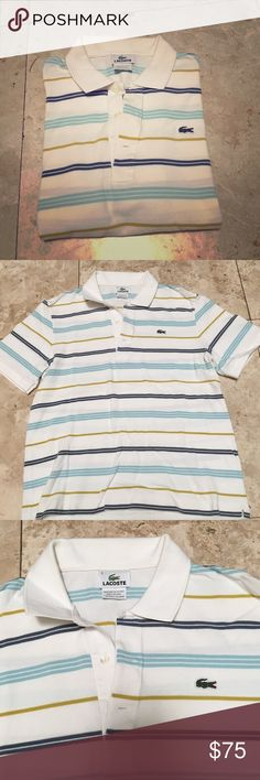 Men's Lacoste Polo Lacoste Sz 4. I'd say it's equal to a Small in mens. No signs of wear! Give it a good press/iron and it'll look brand new from the store! Lacoste Shirts Polos