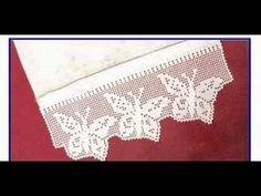 Crochet Orilla de Mariposas (butterfly crochet) - YouTube