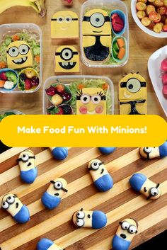 Make adorable Minion-shaped food >> http://www.ulive.com/search/?q=minion #minion #cookies #lunch #movie #Back2school