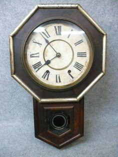 Wall Clock 【文】6326アンティーク柱時計NewHavenアメリカ製 Watch Antique ¥9800yen 〆05月21日