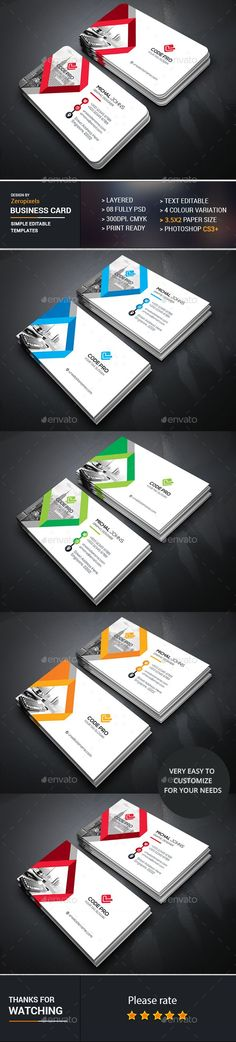 Business Card Design Template - Business Cards Print Template PSD. Download here: https://graphicriver.net/item/business-card/16938150?s_rank=197&ref=yinkira