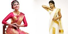 cool Kerala Wedding Sarees in Different Color Combinations