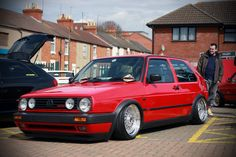 Golf GTI - still miss my old slammed . Volkswagen Golf Gti, Mk1 Caddy, Bmw Vintage, Vw Gol, Golf 2, Sweet Cars, Top Cars, Car Engine, Car Stuff