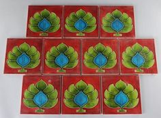 Majolica fire tiles #ukauctioneers #tile