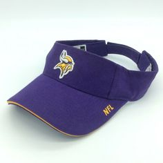1d0a8b998f7 Minnesota Vikings NFL Football Ball Visor Hat Cap Puma Official hook loop  back  Pumavisor