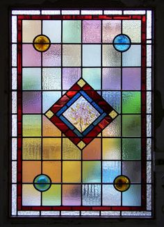 Church Stained Glass Window Panels | This front door leaded light panel had come to the end of its life and ...