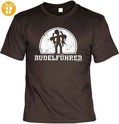 Sprüche T-Shirt Vater - cooles für Papa : Rudelführer -- Geschenk T-Shirt Vatertag Geburtstag Farbe: braun Gr: 3XL - T-Shirts mit Spruch | Lustige und coole T-Shirts | Funny T-Shirts (*Partner-Link)