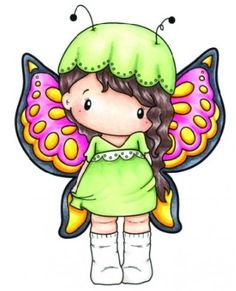 C.C. Designs - Cling Mounted Rubber Stamp - Swiss Pixie Beautiful Lucy,$6.99