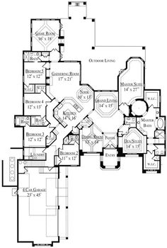 Opulence Abounds - 4238MJ | 1st Floor Master Suite, Bonus Room, Butler Walk-in Pantry, CAD Available, Corner Lot, Den-Office-Library-Study, European, Florida, Luxury, MBR Sitting Area, Media-Game-Home Theater, Mediterranean, PDF, Photo Gallery, Spanish, Split Bedrooms | Architectural Designs