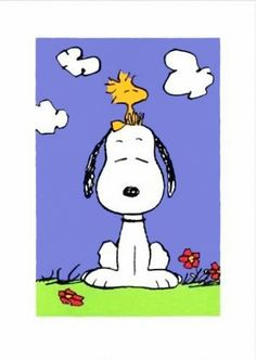 Getting 'ZEN' with Snoopy and Woodstock.