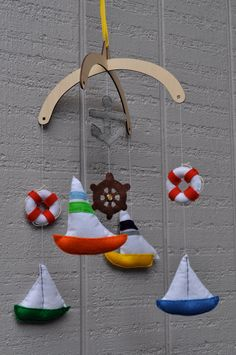 Sailboat Baby Mobile. $85.00, via Etsy.