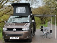 Beacons Campers :: Volkswagen 140 - Toffee Brown - Special Offers for October Volkswagen T5 Transporter, Caravan Awnings, Campervan Hire, Camping Equipment, Campsite, Motorhome, Campers, Touring, About Uk