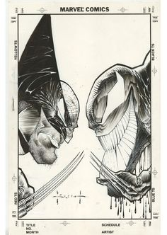 Wolverine Vs Venom by Sam Kieth