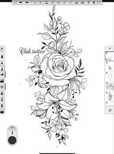 Tatuaje Mandala Floral, Floral Mandala Tattoo, Floral Tattoo Design, Mandala Tattoo Design, Neue Tattoos, Body Art Tattoos, Tattoo Drawings, Hip Tattoos Women, Sleeve Tattoos For Women